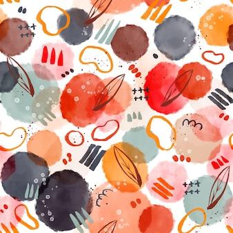 Patroonontwerp met aquarel abstracte vormen
