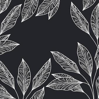 Patroonplanten en kruiden geïsoleerd pictogram