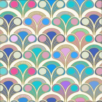 Pauw deco stijl patroon