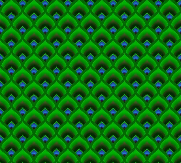 Pauwenveren patroon