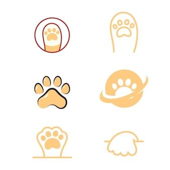 Paw logo ontwerp vector illustratie ontwerpsjabloon
