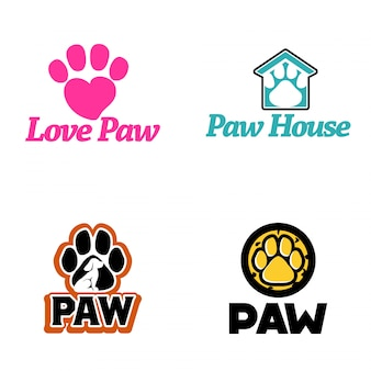 Paw logo vector kunst