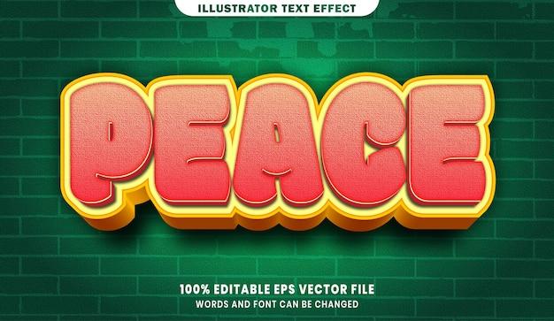 Peace 3d bewerkbaar tekststijleffect