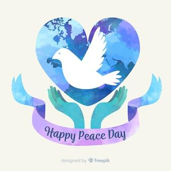 Peace day concept met een dover
