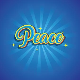 Peace tekst logo lettertype effect