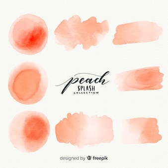 Peach aquarel splash collectie