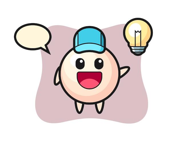 Pearl karakter cartoon krijgt het idee