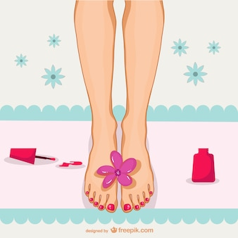 Pedicure illustratie