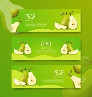 Peer gezond fruit voor sjabloonbanners