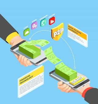 Peer to peer payments-ontwerpconcept