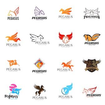 Pegasus-logo set