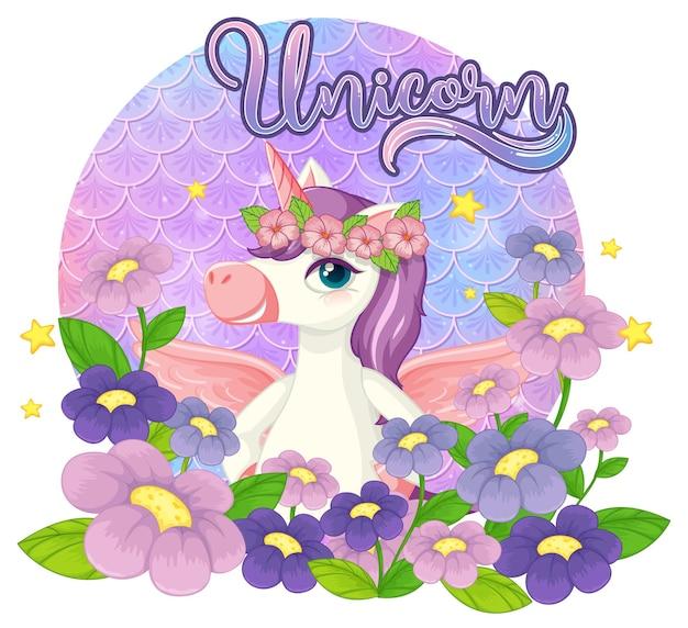 Pegasus stripfiguur op pastel schalen achtergrond geïsoleerd