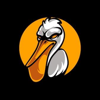 Pelikanen mascotte logo