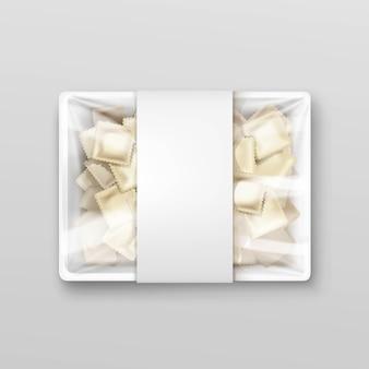 Pelmeni-vleesbollen ravioli-verpakking