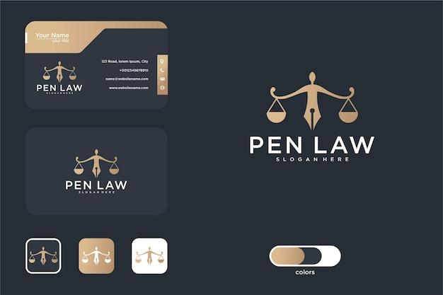Pen advocatenkantoor logo ontwerp en visitekaartje