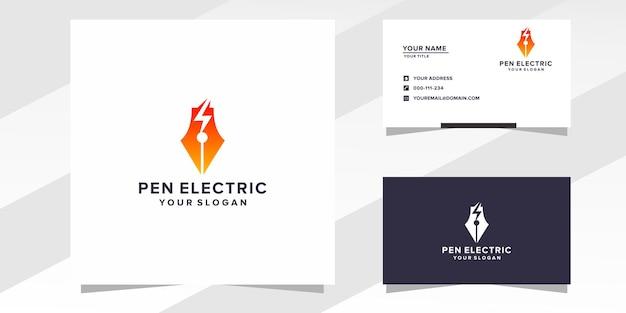 Pen elektrisch logo sjabloon