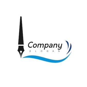 Pen-logo, bedrijf, onderwijs en advocatenkantoor bedrijfssymbool