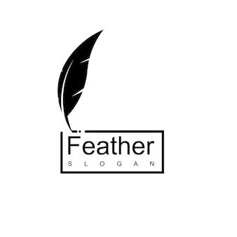 Pen logo sjabloon advocatenkantoor bedrijf en schrijver symbool