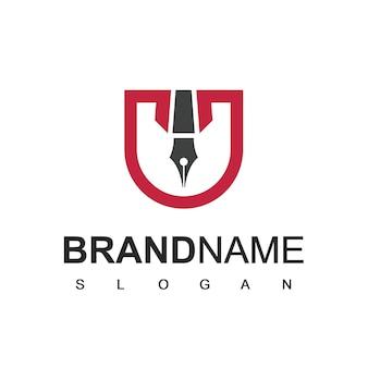 Pen-logo, symbool van advocatenkantoor company