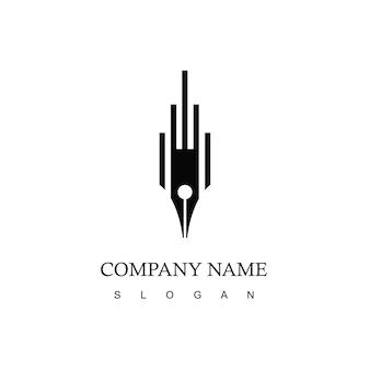 Pen logo zakelijk bedrijf symbool