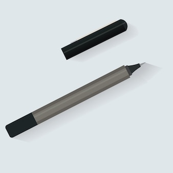 Pen marker briefpapier pictogram vector