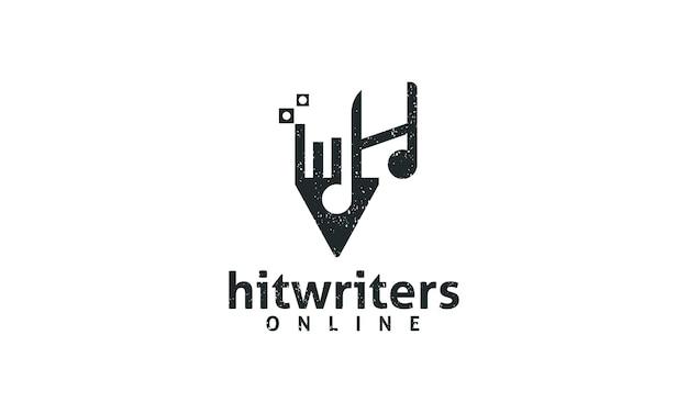 Pen schrijver initialen h creatieve geluidskunst