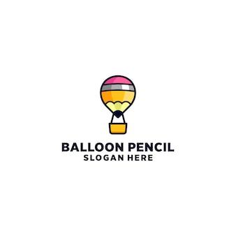 Pencil air ballon logo ontwerp