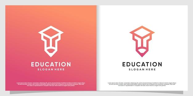 Pencil tech-logo met modern concept premium vector deel 2