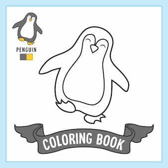 Penguin animals coloring book pages