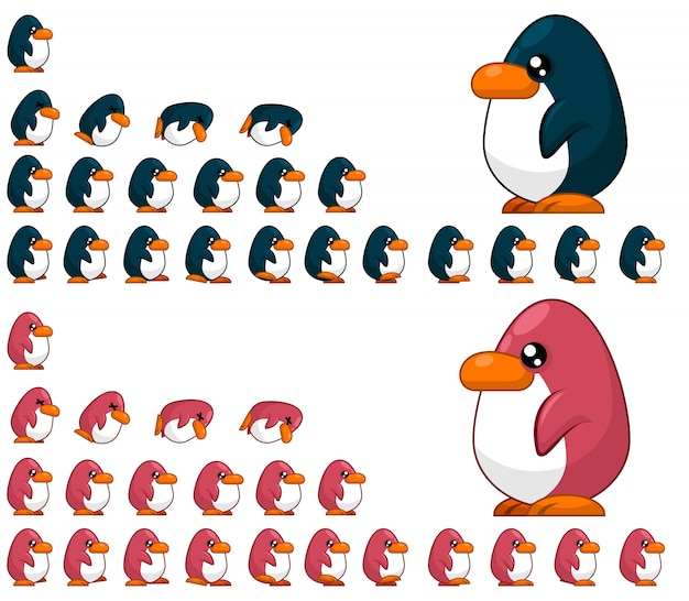 Penguin game sprites