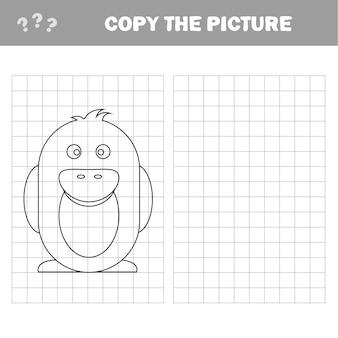 Penguin - schilderpagina, spel voor kinderen en kinderen - kopieer de afbeelding