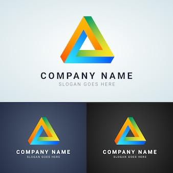 Penrose driehoek logo ontwerp