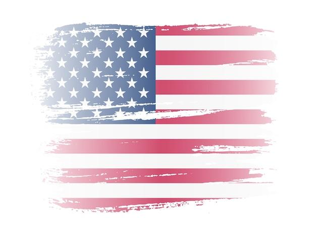 Penseelstreek amerikaanse vlag