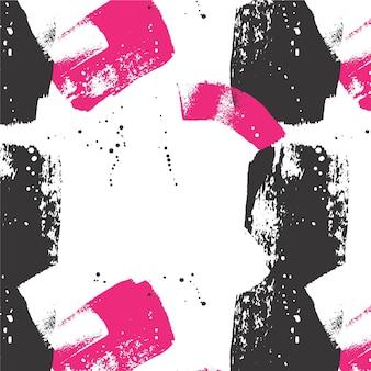 Penseelstreek patroon abstract ontwerp