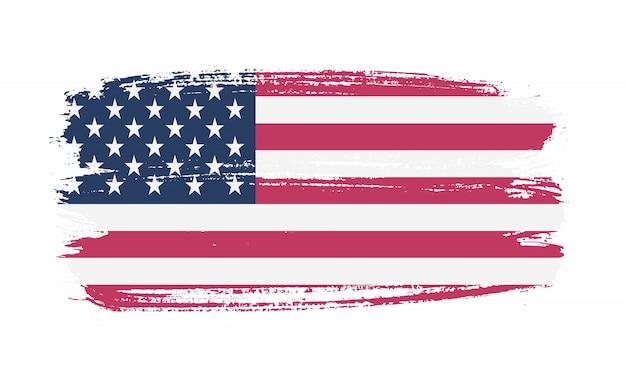 Penseelstreek usa vlag