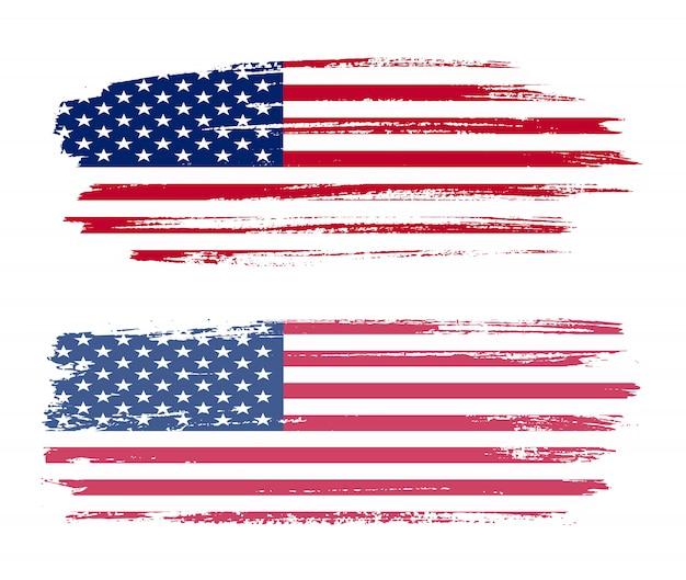 Penseelstreek vlag van de verenigde staten