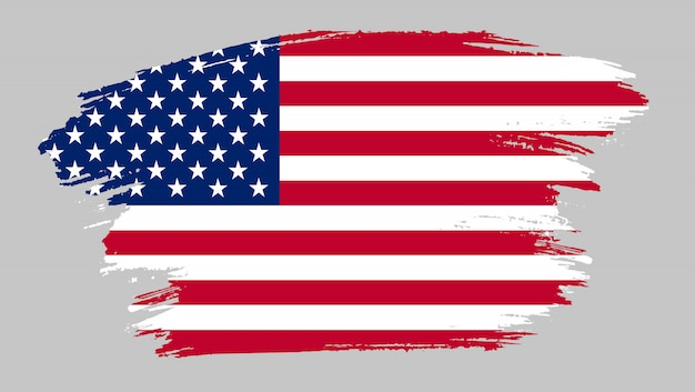 Penseelstreek vlag van verenigde staten