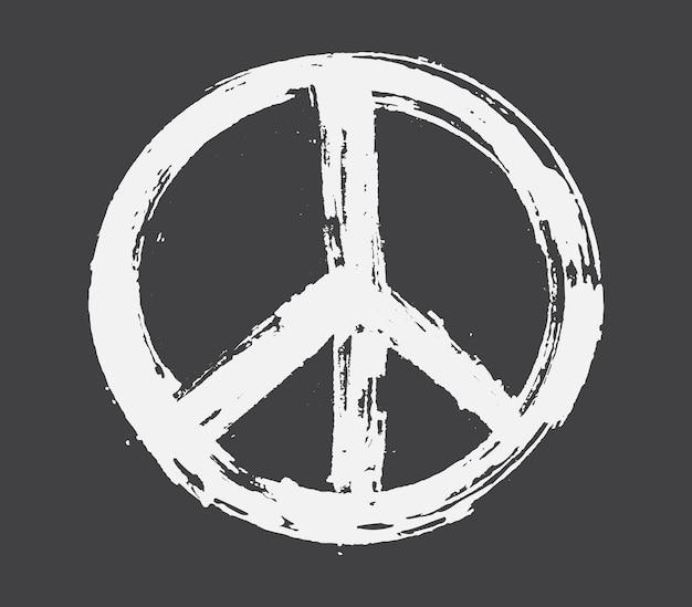 Penseelstreek vredesteken