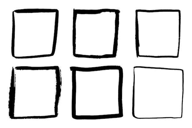Penseelstreekelementen voor ontwerpen set