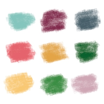 Penseelstreekstructuren in levendige kleuren