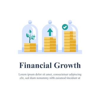 Pensioenfonds, geld sparen, fondsenwerving, langetermijninvestering, rente, meer verdienen, omzetstijging, inkomensgroei, kapitaaltoewijzing