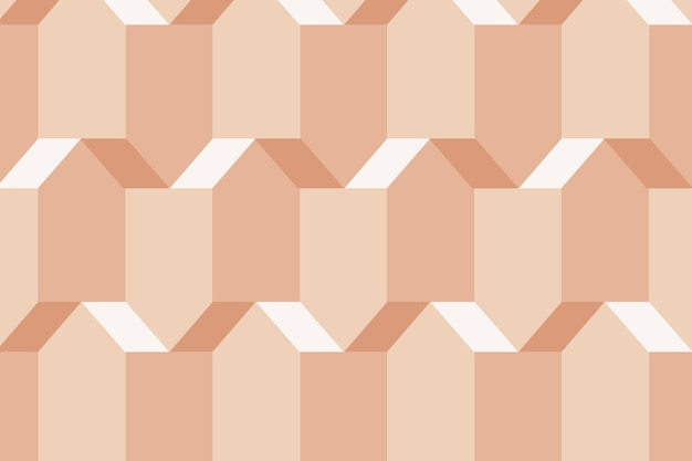 Pentagon 3d geometrische patroon vector oranje achtergrond in moderne stijl