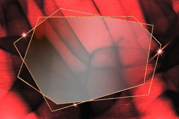 Pentagon gouden frame op abstracte achtergrond