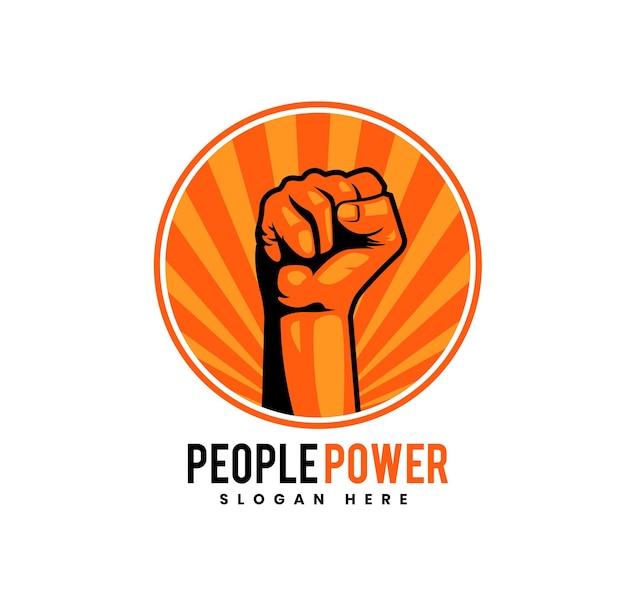 People power design voor badge, embleem, logo en andere
