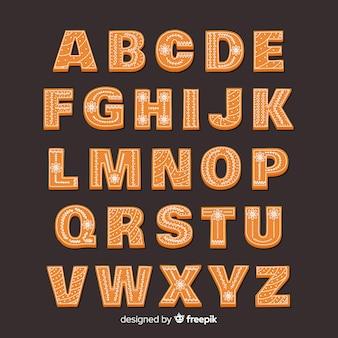 Peperkoek alfabet