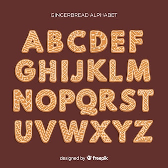 Peperkoek cookie alfabet