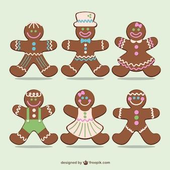 Peperkoek cookies voor kerstmis