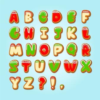 Peperkoek kerst alfabet pack