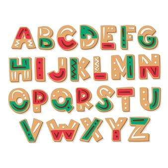 Peperkoek kerst alfabet