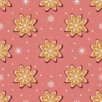 Peperkoekkoekjes en witte sneeuwvlokken